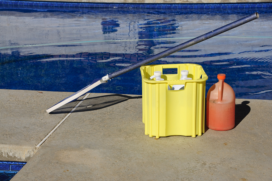 a photo of essential pool cleaning materials