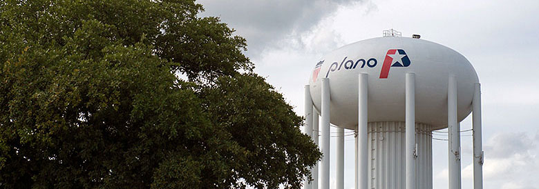 Water tower in Plano, TX.