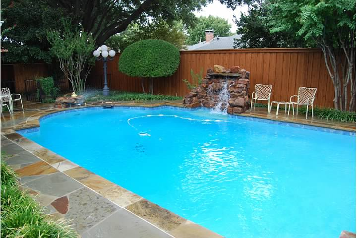 Before and after photos of a total pool renovation for Show pool result