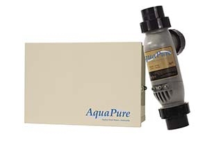 AquaPure swimming pool chemical controller panel manufactured by Jandy