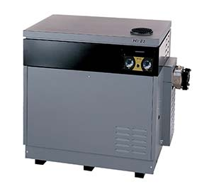Hi E2 high performance swimming pool heater manufactured by Jandy