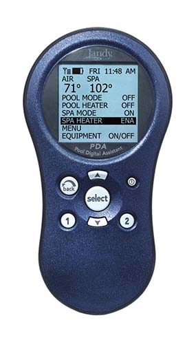 PDA swimming pool handheld remote control unit manufactured by Jandy