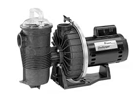 Challenger high pressure swimming pool pump manufactured by Pentair