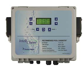 Intellichem swimming pool chemical and pH controller panel manufactured by Pentair