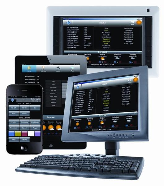 Screenlogic swimming pool control software interface multi-platform package released by Pentair