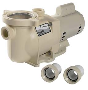 SuperFlo high efficiency swimming pool pump manufactured by Pentair