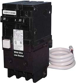 swimming pool GFCI circuit breaker manufactured by Pentair
